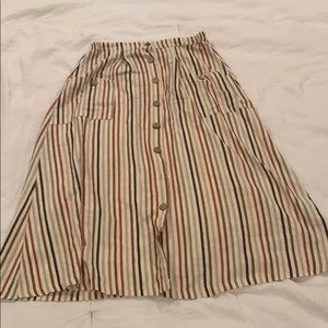 Nasty gal high midi striped skirt